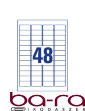 Etikett AVERY L6113-20 45,7x21,2mm laser biztonsági 960 címke/doboz 20 ív/doboz