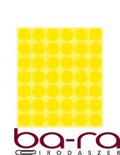 Etikett AVERY 3377 öntapadó jelölőpont sárga 18mm 1056 jelölőpont/csomag