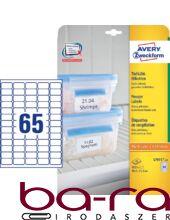 Etikett AVERY L7971-25 38,1X21,2 fagyasztó