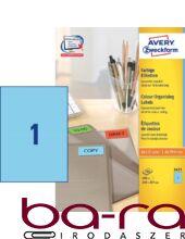 Etikett AVERY 3471 210x297 mm kék univerzális 100 címke/doboz 100 ív/doboz