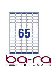 Etikett AVERY L7651-100 38,1x21,2 mm fehér 6500 címke/doboz 100 ív/doboz