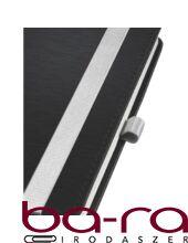 Jegyzetfüzet LEITZ Style A/6 80 lapos kockás szaténfekete