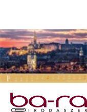 Asztali naptár képes Dayliner álló fehér lapos 3in1 Budapest 2019.