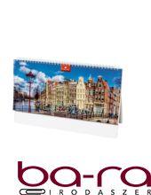 Asztali naptár képes Dayliner álló fehér lapos Európa 2020.