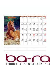 Asztali naptár képes Dayliner álló fehér lapos Lovak 2020.