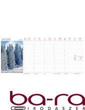Asztali naptár képes Dayliner álló fehér lapos Természet Világa 2020.