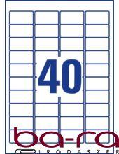 Etikett AVERY L4770-25 45,7x25,4 mm átlátszó 1000 címke/doboz 25 ív/doboz