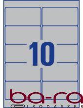Etikett AVERY L6012-20 96x50,8mm laser ezüst 200 címke/doboz 20 ív/doboz