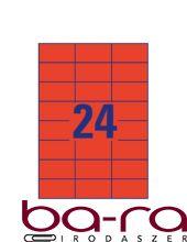 Etikett AVERY 3448-10 70x37mm univerzális piros 240 címke/doboz 10 ív/doboz