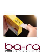 Etikett AVERY 3859 öntapadó jelölőpont adagoló dobozban szomorú arc mintás piros 19mm 250 jelölőpont/doboz