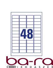 Etikett AVERY L4736REV-100 45,7x21,2 mm univerzális visszaszedhető 4800 címke/doboz 100 ív/doboz