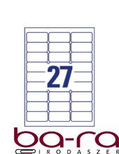 Etikett AVERY L4737REV-100 63,5x29,6 mm univerzális visszaszedhető 2700 címke/doboz 100 ív/doboz
