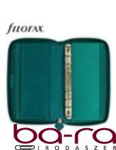 Filofax Saffiano Personal Compact Zip fehér lapos aquamarine 2019.