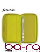 Filofax Saffiano Personal Compact Zip fehér lapos zöld 2019.
