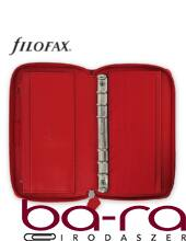 Filofax Saffiano Personal Compact Zip fehér lapos piros 2019.