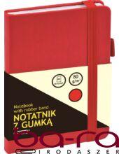 Jegyzetfüzet GRAND A/6 80 lapos puha piros kockás