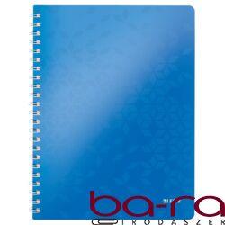 Spirálfüzet LEITZ Wow A/4 80 lapos vonalas kék