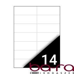 Etikett FORTUNA 105x42,4mm univerzális 1400 címke/doboz 100 ív/doboz