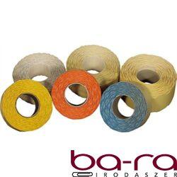 Árazószalag FORTUNA 22x12mm perforált sárga 10 tekercs/csomag