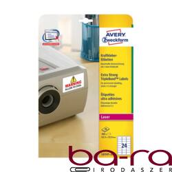 Etikett AVERY L6141-20 63,5x33,9 mm háromször erősebb tapadás 480 címke/doboz 20 ív/doboz