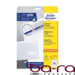 Etikett AVERY 3490 70x36 mm fehér univerzális  720 címke/doboz 30 ív/doboz
