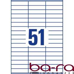 Etikett AVERY 3420 70x16,9 mm fehér univerzális 5100 címke/doboz 100 ív/doboz