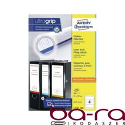 Etikett AVERY L4761-100 192x61 mm fehér iratrendezőcímke 400 címke/doboz 100 ív/doboz