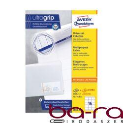 Etikett AVERY 3669-200 70x50,8 mm fehér univerzális 3300 címke/doboz 200+20 ív/doboz