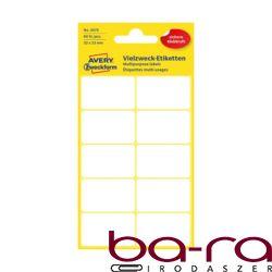 Etikett AVERY 3075 32x23 mm fehér univerzális 60 címke/doboz 6 ív/doboz