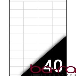 Etikett FORTUNA 48,5x25,4mm univerzális 4000 címke/doboz 100 ív/doboz