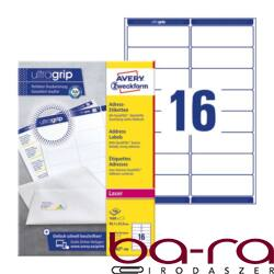 Etikett AVERY L7162-100 99,1x33,9mm univerzális 1600 címke/doboz 100 ív/doboz