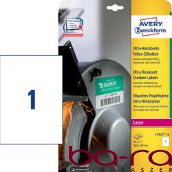Etikett AVERY L7917-10 210 x 297 mm ultra ellenálló 10 címke/doboz 10 ív/doboz