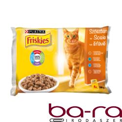 Állateledel alutasakos PURINA Friskies Adult macskáknak multipack aszpikos 4x100g