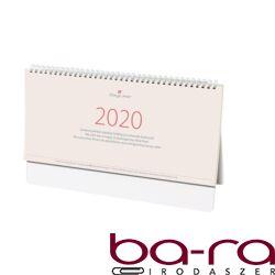 Asztali naptár kép nélküli Dayliner Kódex álló sárga lapos fehér 2020.