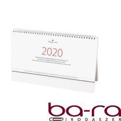 Asztali naptár kép nélküli Dayliner Oktáv álló fehér lapos fehér 2020.