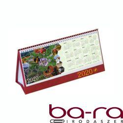 Asztali naptár képes Csízió álló fehér lapos idézetes PVC hátlap bordó 2020.