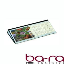 Asztali naptár képes Csízió fekvő fehér lapos idézetes PVC hátlap fekete 2020.