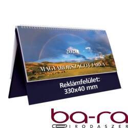 Asztali naptár képes TOPTIMER T056 álló fehér lapos Magyarországot járva kék 2021.