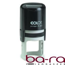 Bélyegző COLOP Printer R30 kör fekete ház fekete párna