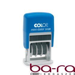 Bélyegző dátum COLOP S120 Mini kék ház fekete párna