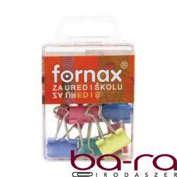 Binder csipesz FORNAX 19mm színes 10 db/doboz