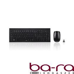 Billentyűzet + egér vezeték nélküli HAMA Cortino 2,4 GHz fekete