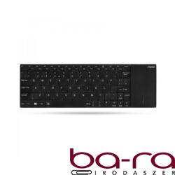 Billentyűzet vezeték nélküli RAPOO E2710 touchpad fekete