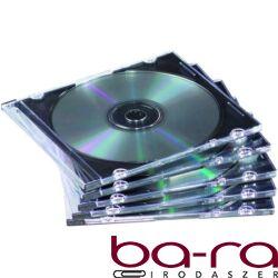 CD-tok Fellowes vékony, átlátszó, 1 lemez