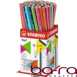 Grafitceruza display STABILO Trio HB háromszögletű 72 db-os