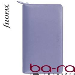 Filofax Saffiano Personal Compact Zip fehér lapos kék 2019.