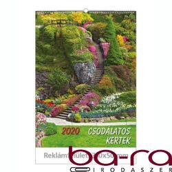 Falinaptár Toptimer T093 310x420mm álló Csodálatos kertek 2020.