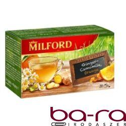 Gyümölcstea MILFORD gyömbér-kamilla, narancs 20x2g