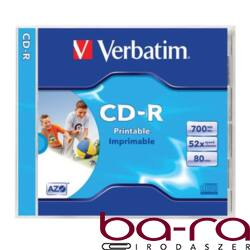 ÍRHATÓ CD VERBATIM 700MB 80MIN NYOMTATHATÓ