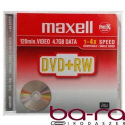 ÚJRAÍRHATÓ DVD+RW MAXELL 4,7GB 1-4X